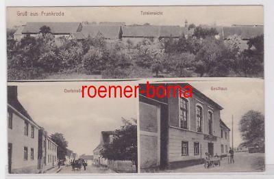 86180 Mehrbild Ak Gruß aus Frankroda Gasthaus und Dorfstraße um 1920