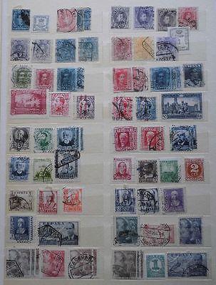 Kleine alte Briefmarken Sammlung Spanien mit etwa 200 Marken ab 1870 (118681)