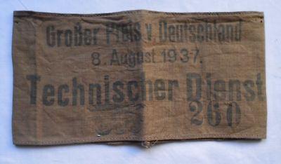 Rarität Armbinde Technischer Dienst Großer Preis von Deutschland 1937 (103219)