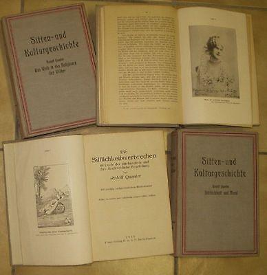 Sitten- und Kulturgeschichte / 4 Bände von 1925
