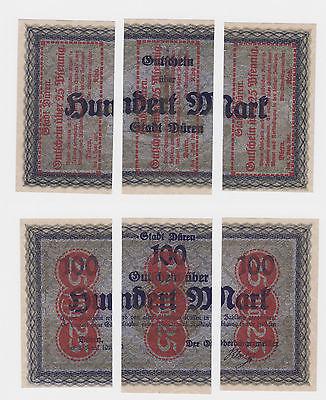 3 Banknoten Notgeld Stadt Düren 1.6.1921 (120549)