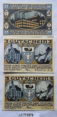 3 Banknoten Notgeld Stadt Neheim an der Ruhr um 1921 kassenfrisch (111976)