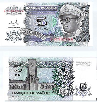 5 Makuta Banknote Zaire 2011 kassenfrisch (123756)