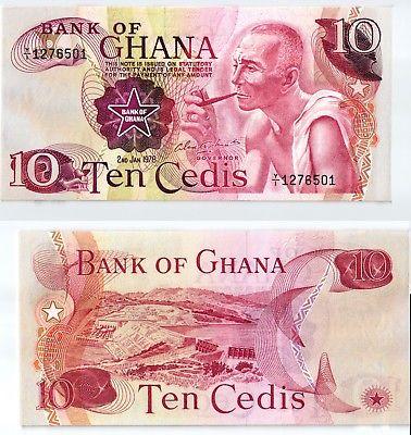 10 Cedis Banknote Ghana 1978 kassenfrisch (123790)