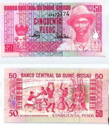 50 Pesos Banknote Guinea Bissau 1990 kassenfrisch (123804)