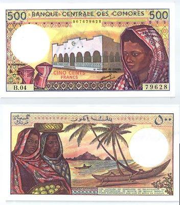 500 Francs Banknote Komoren 1994 kassenfrisch (123580)