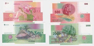 500 2000 Francs Banknote Komoren 2006 kassenfrisch (123718)