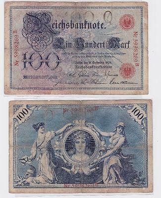 100 Mark Banknote Kaiserreich Deutsches Reich 18.12.1905 (117572)