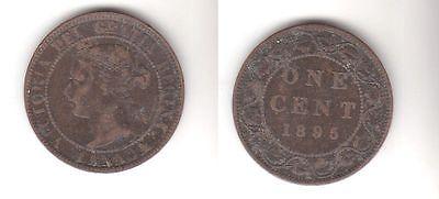 1 Cent Kupfer Münze Kanada Canada 1895 116362 Nr 332500326103