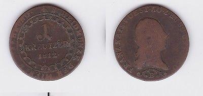 1 Kreuzer Kupfer Münze österreich Wiener Währung 1812 B 117686 Nr