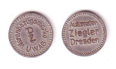 UWAG Warenbezugsmarke Automaten Ziegler Dresden (112355)