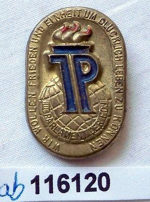 Seltenes DDR Blech Abzeichen III.Parlament der FDJ (116120)