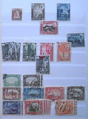 Kleine alte Briefmarken Sammlung Aden mit 50 Marken ab 1946 (118692)
