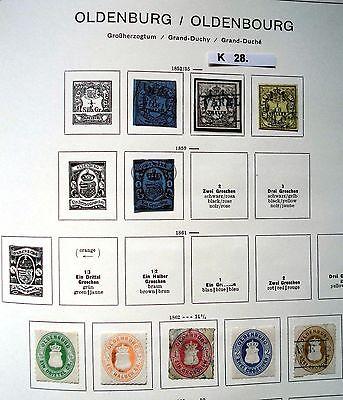 Schöne hochwertige Briefmarkensammlung Oldenburg 1852 bis 1862