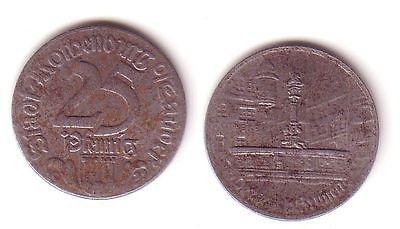 25 Pfennig Notgeld Eisen Münze Stadt Rothenburg o.T. 1921 (112739)