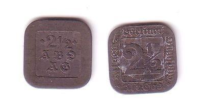 2 1/2 Pfennig Notgeld Zink Münze Berlin Allg.Omnibus A.G. um 1920 (112513)