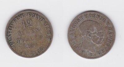 1/12 Taler Silber Münze Hannover 1851 B (119347)