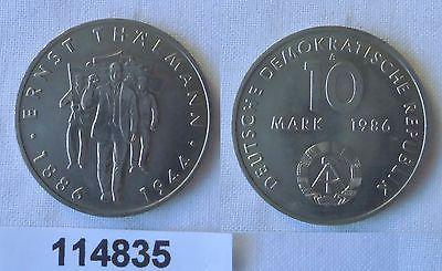 DDR Gedenk Münze 10 Mark Ernst Thälmann 1986 (114835)