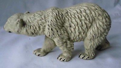 Eisbär Icebear Polarbär Elastolin Lineol 1930er Massefigur Antarktis (113591)