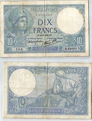 10 Francs Banknote Frankreich 19.05.1939 (123964)