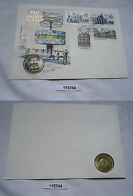 DDR Numisbrief mit 5 Mark 750 Jahre Berlin Alexanderplatz 1987 (115744)