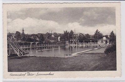 57870 Hermsdorf Thüringen Sommerbad mit Rutsche und Sprungturm 1953