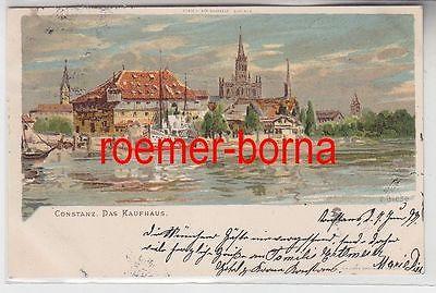 79097 Künstler Ak Constanz Konstanz das Kaufhaus 1899
