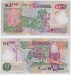 1000 Kwacha Banknote Zambia Sambia 2005 kassenfrisch (123434)