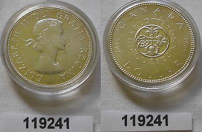 1 Dollar Silber Münze Kanada Lilie, Kleeblatt, Distel und Rose 1964 (119241)