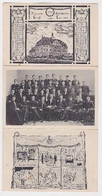 84064/3fach Klapp Studentika Ak Haldensleben um 1930