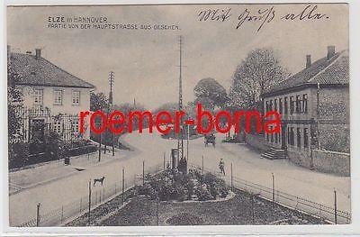 74437 Ak Elze in Hannover Partie von der Hauptstrasse aus gesehen 1913