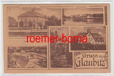 75682 Mehrbild Ak Gruss aus Glaubitz Gasthof drei Lilien usw. um 1920