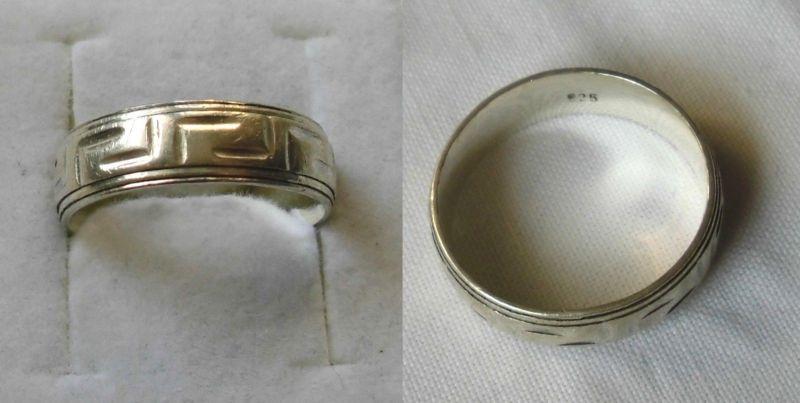 Schön dezenter 925er Sterling Silber Ring Schmuckring Labyrinth Muster (100015)