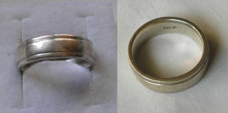 Schlicht gehaltener 925er Sterling Silber Ring Schmuckring (105779)