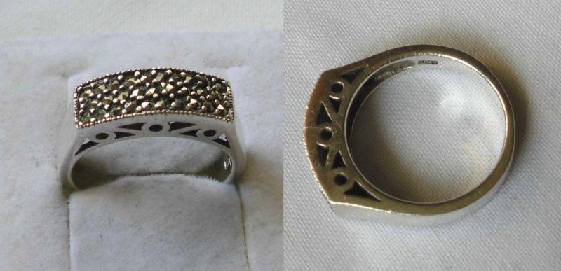 Hübscher 925er Sterling Silber Ring Schmuckring viele Schmucksteine (103061)