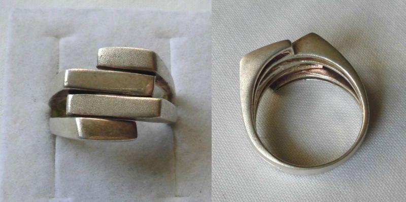 Stilsicherer 925er Sterling Silber Ring Schmuckring matte Oberfläche (107541)