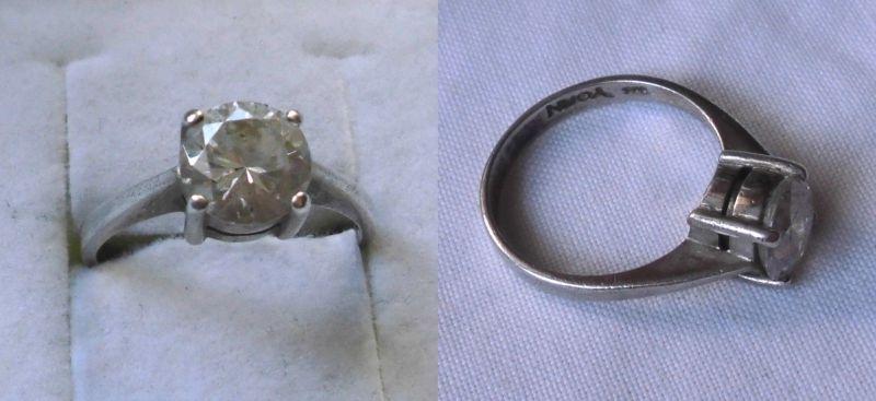 Eleganter 925er Sterling Silber Ring mit wunderbar geschliffenem Stein (119902)