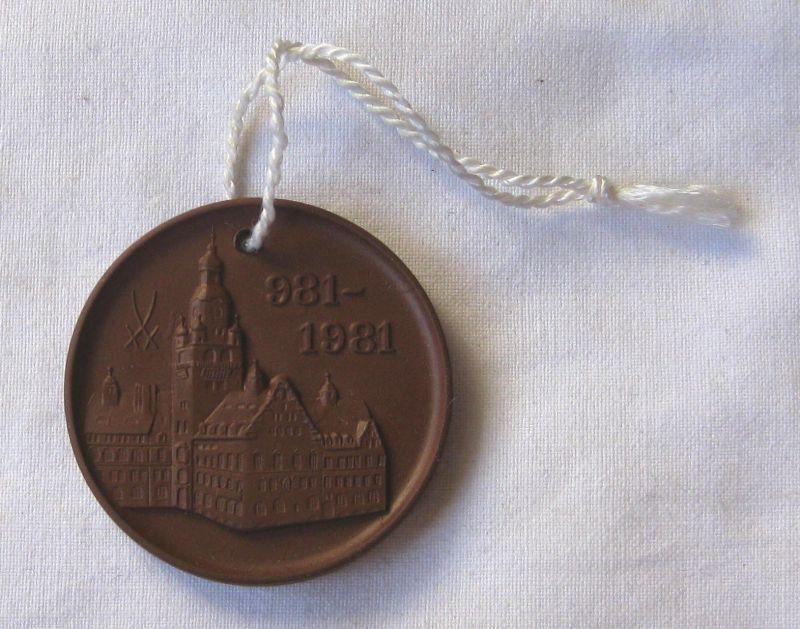 Meissner Porzellan Medaille 1000 Jahre Döbeln 981-1981 (120985)