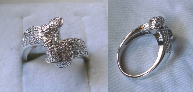 Kreativer 925er Sterling Silber Ring mit abstraktem Design Schleife? (118517)