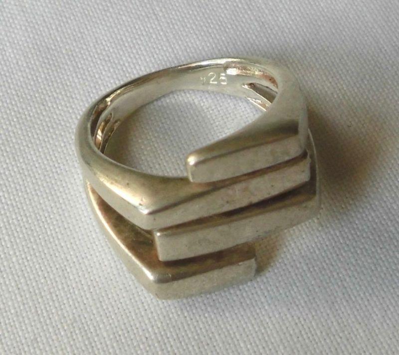 Stilsicherer 925er Sterling Silber Ring Schmuckring matte Oberfläche (123586)
