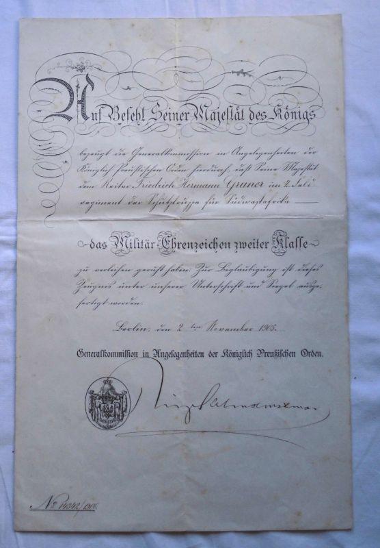 Seltene Urkunde für Reiter der deutschen Schutztruppe DSWA 1905 (123564)