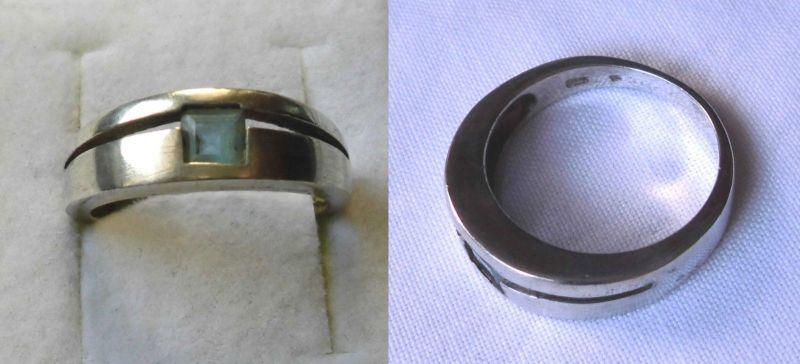 Eleganter 925er Sterling Silber Ring mit blauem Stein (123599)