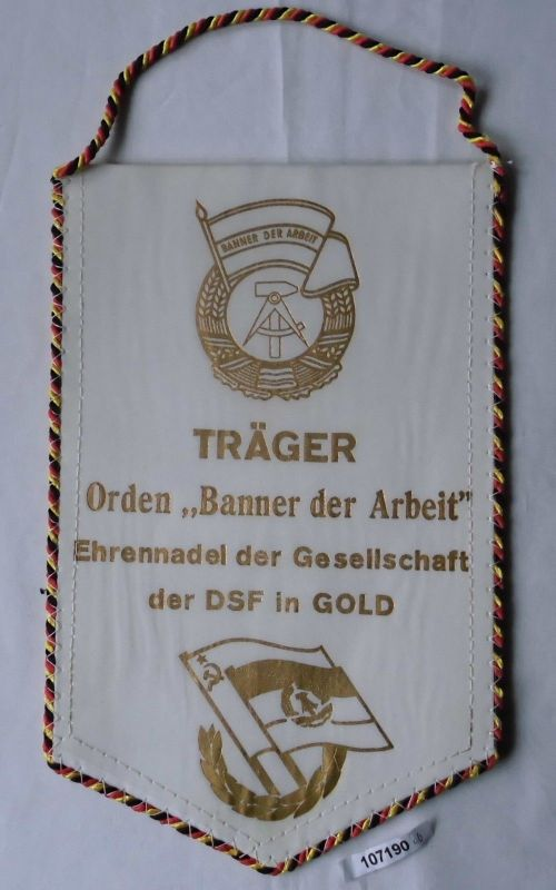 DDR Wimpel Bergbaubetrieb DSF Reust Träger Orden