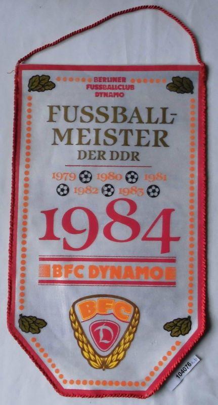 DDR Wimpel Berliner Fussballclub BFC Dynamo Fussballmeister 1979-1984 (104076)