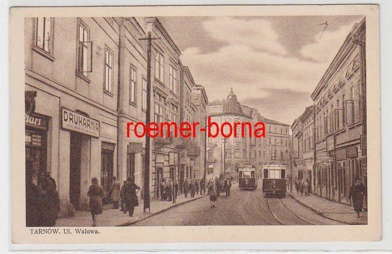 72094 Ak Tarnow Polen Ul Walowa Mit Strassenbahnen 1931 Nr