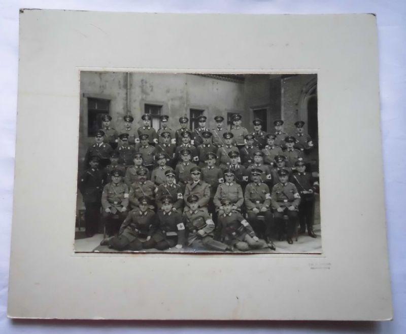 Fotoaufnahme auf Pappe Sanitätstruppe Altwaldenburg 1. Weltkrieg (124198)