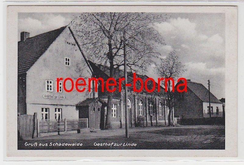 73311 Ak Gruß aus Schadewalde Gasthof zur Linde um 1940