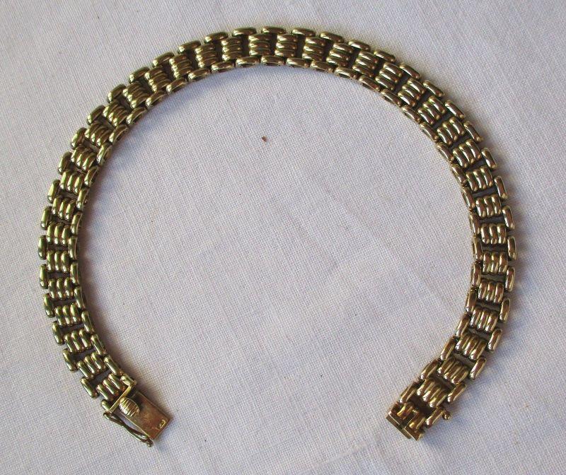Hübsches Armband aus 585er Gold Gliederarmband (115080)