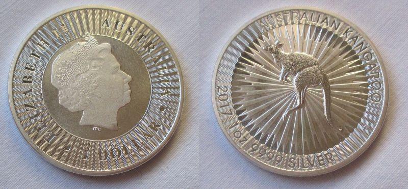 1 Dollar Silber Münze Australien Kangaroo Kängeruh 2017 1 Unze Ag