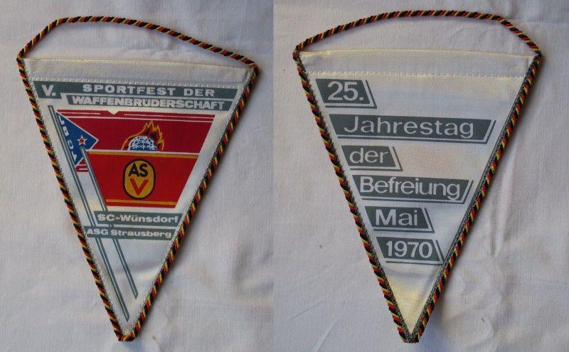 DDR Wimpel Sportfest der Waffenbrüderschaft SC-Wünsdorf ASG Strausberg (114857)